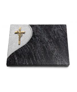 Grabtafel Kashmir Folio Kreuz/Ähren (Bronze)