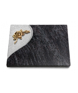 Grabtafel Kashmir Folio Rose 1 (Bronze)