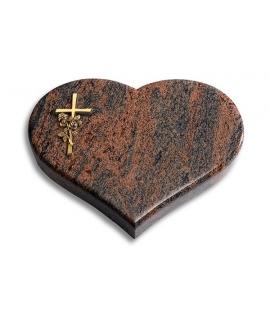 Coeur/Twilight-Red Kreuz/Ähren (Bronze)