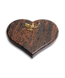 Coeur/Twilight-Red Papillon (Bronze)