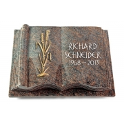 Grabbuch Antique / Paradiso mit Bronze-Ornament