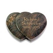 Grabstein Amoureux / Himalaya mit Bronze-Ornament