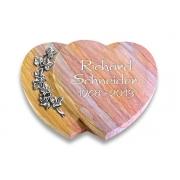 Grabstein Amoureux / Rainbow mit Aluminium-Ornament