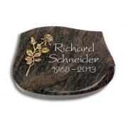 Grabstein Cassiopeia / Himalaya mit Bronze-Ornament