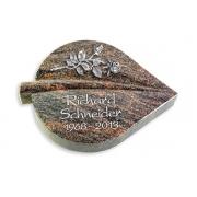 Grabstein Folia / Himalaya mit Aluminium-Ornament