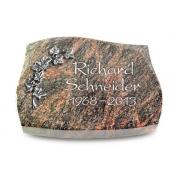 Grabstein Galaxie / Himalaya mit Aluminium-Ornament