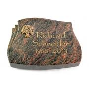 Grabstein Liberty / Himalaya mit Bronze-Ornament