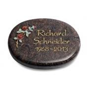 Grabstein Rondo / Himalaya mit Color-Bronze-Ornament