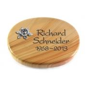 Grabstein Rondo / Woodland mit Aluminium-Ornament