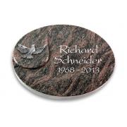 Grabstein Yang / Himalaya mit Aluminium-Ornament