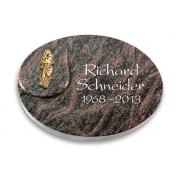 Grabstein Yang / Himalaya mit Bronze-Ornament
