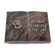 Grabbuch Livre / Himalaya mit Bronze-Ornament