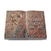 Grabbuch Livre / Paradiso mit Bronze-Ornament