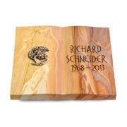 Grabbuch Livre / Rainbow mit Bronze-Ornament