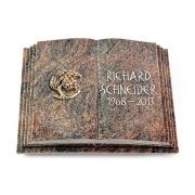 Grabbuch Livre Pagina / Himalaya mit Bronze-Ornament