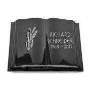 Grabbuch Livre Pagina / Indisch-Black mit Aluminium-Ornament