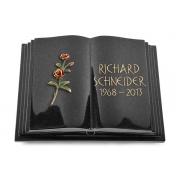 Grabbuch Livre Pagina / Indisch-Black mit Color-Bronze-Ornament
