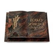 Grabbuch Livre Podest / Aruba mit Bronze-Ornament