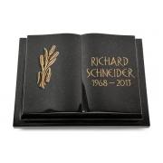 Grabbuch Livre Podest / Indisch-Black mit Bronze-Ornament