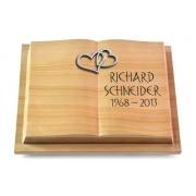 Grabbuch Livre Podest / Woodland mit Aluminium-Ornament