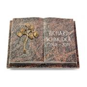 Grabbuch Livre Podest Folia / Himalaya mit Bronze-Ornament