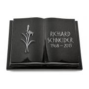 Grabbuch Livre Podest Folia / Indisch Black mit Aluminium-Ornament