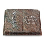Grabbuch Livre Podest Folia / Paradiso mit Aluminium-Ornament